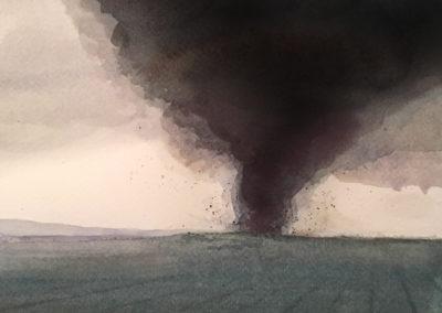 WC01-2019 (tornado study) watercolor 18x24cm