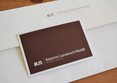 BLM Bellettini Lazzareschi Mustilli Studio Legale / Corporate identity / 2009