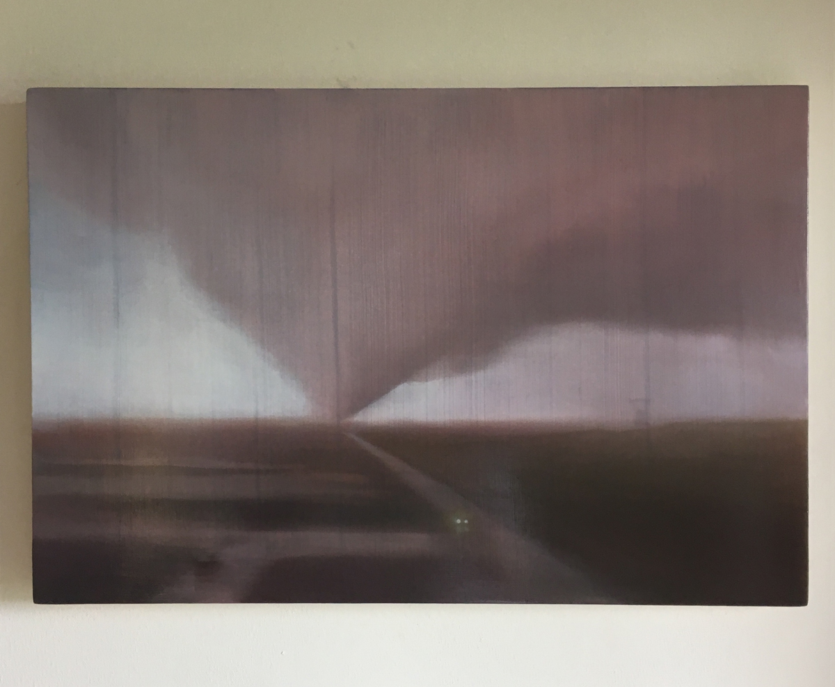 #121 Rome Tornado (work in progress) / 2018 / oil on panel / 40x60cm