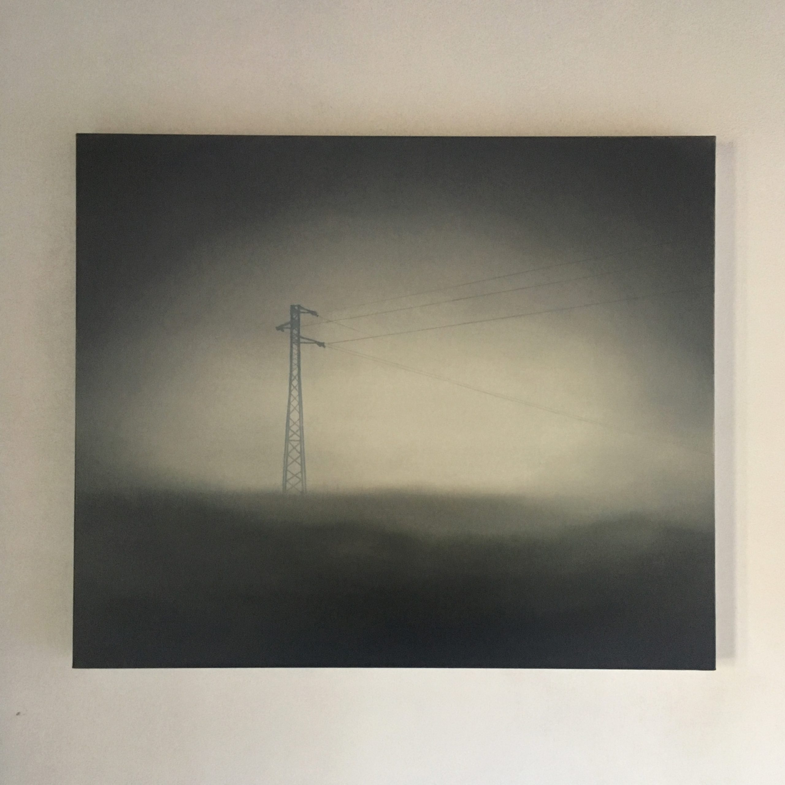 T#131-2019, oil and graphite on canvas, 50x60cm (private collection)