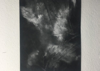 AB#09-2019 28x23cm gesso on sandpaper