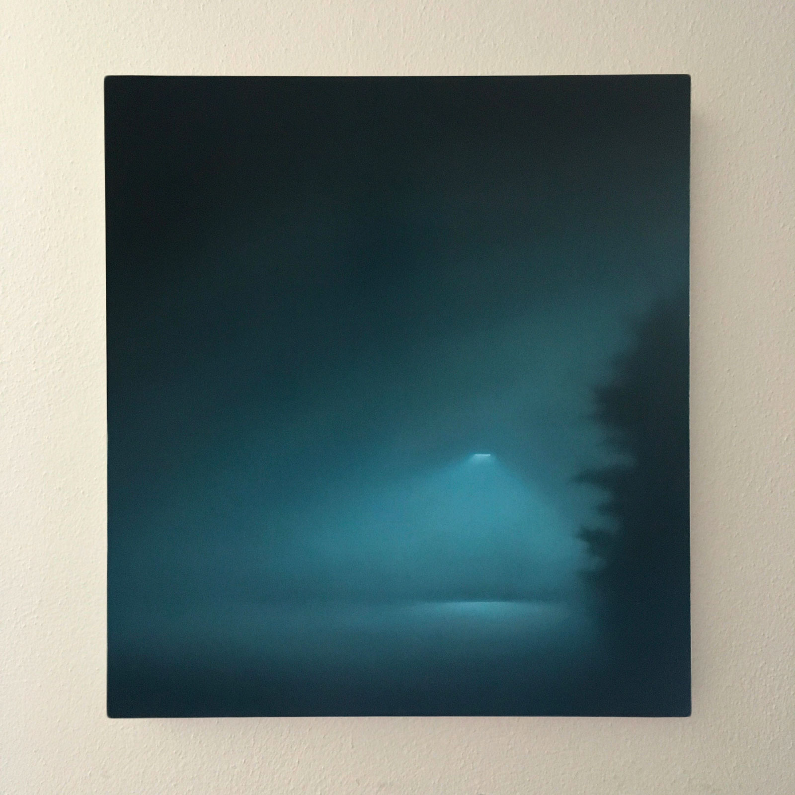 T#167-2019 (The lamp), oil on canvas, 60x55cm